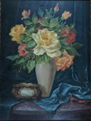 Andrae, Elisabeth, Blumen, Öl, 50 x 37, sign.Andrae, Elisabeth, Blumen, Öl, 50 x 37, sign