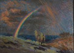 Eicken, Elisabeth von, Regenbogen, Öl, 26 x 32, monogr.Eicken, Elisabeth von, Regenbogen,