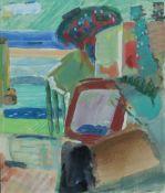 Goltzsche, Ingrid, an der See, Mischt., 25 x 29, verso sig.Goltzsche, Ingrid, an der See, M
