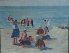 Arnheim, Clara, Am Strand, Öl, 27 x 34, sign.Arnheim, Clara, Am Strand, Öl, 27 x 34, sign