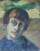 Herveling-Bockenheuser, Helene, Portrait Asta Nielsen, Öl, 41 x 33, sign.Herveling-Bockenh
