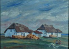 Büchsel, Elisabeth, auf Hiddensee, Öl, 23 x 31, monogr.Büchsel, Elisabeth, auf Hiddensee