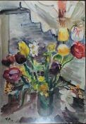 Holtz-Sommer, Hedwig, Blumen, Mischt., 82 x 58, sign.