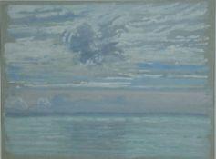Arnheim, Clara, Meeresansicht mit Wolkenhaufen, Gouache, 21 x 28