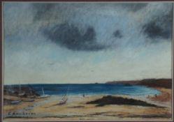 Arnheim, Clara, Strand von Hiddensee, Pastell, 26 x 38, sign.
