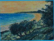 Dolberg, Helene, Hiddensee, Pastell, 17 x 23, sign.