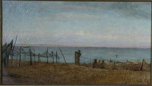 Douzette, Louis, Netze, Öl, 31 x 56, sign.