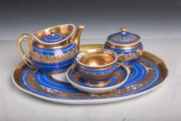 Teegarnitur (aus der Zeit des Biedermeiers, 1. Hälfte 19. Jahrhundert, ohne Manufakturmarke), 5-