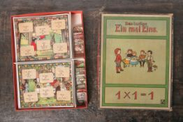 """Tischspiel """"Das lustige Ein mal Eins"""", Klee Verlag, Inhalt: 6 Tafeln, 35 Legekarten,"""