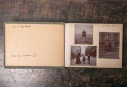 """Altes Reisealbum (um 1900), ca. 78 Fotoaufnahmen von Wiesbaden, Mainz etc., innenseitig bez. """""""