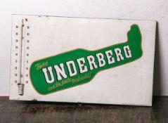 """Emailschild """"Täglich Underberg, und du fühlst dich wohl"""", Underberg GmbH, Ferro Email, ca. 38 x 65"""