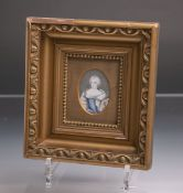 Unbekannter Künstler (Österreich, wohl 19. Jh.), Miniaturgemälde, Porträt von Maria Theresia, ca.