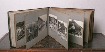"""Album m. Fotoaufnahmen bzw. ein Zeitdokument """"Hauenstein-Basistunnel, Tecknau-Olten (Schweiz) 8135"""