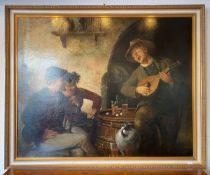 Lassen, Hans (1857 - 1938), fröhliche Runde, Öl/Lw, re. u. sign.