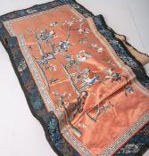 Seidenstickarbeit (Japan, Alter unbekannt), Darstellungen aus dem Tempelleben