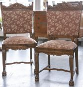 2 Stühle (Historismus, wohl 19. Jh.), Rahmen wohl Kirschholz