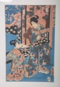 Kunisada, Utagawa (1786 - 1865), Darstellung im Palast