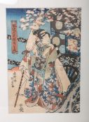 Kunisada, Utagawa (1786 - 1865), Darstellung einer Geisha