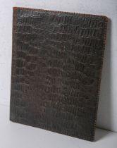 Dokumentenmappe (wohl 20. Jh.), Krokooptik braun