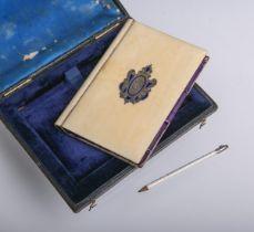 Visitenkartenbehältnis in Buchform (wohl 19./20. Jh.)