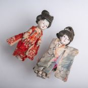 3 alte Puppen (Japan, wohl Ende 19. Jh.)