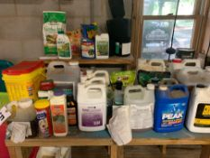 Chemicals, Gas Cans, Misc Plumbing - 1 Lot