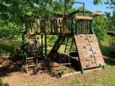 Play Set - Metal Frame/Wood Outdoor w/Climbing