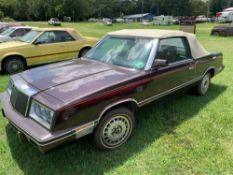 1982 Chrysler Lebaron Convertible