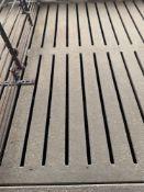 "Concrete Slat Flooring - 4'Wx10'Lx4""Thick;"