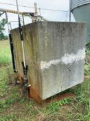 Concrete Water Tank - Approx 6'Wx4'Dx5'H on Stand