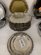 """Round / Oblong Serving Trays 10"""" to 14"""""""