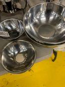 """SS Mixing Bowls (4), 8"""" (2) & 11"""" (2)"""