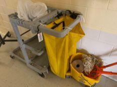 Janitor Cart w/Mop Bucket