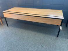 Laminate Wood-Grain Computer Table w/Metal Frame