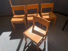 Oak Child Library Chair - Library