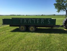16ft. Flat Bed Trailer with Sides