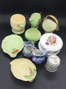 A selection of various china items by various makers