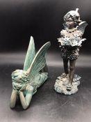 Two fairy figurines