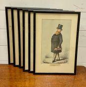 "After Carlo Pellegrini 'APE' (1839-1889) Italian/English, ""Statesmen"", a collection of 6 prints,"