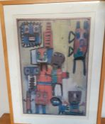 """After Karel Appel (1921-2006) Dutch, a poster from """"Questioning Children"""" (1949) in the Tate"""
