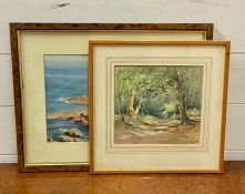 """A pair of 20th century French school drawings, signed: 'M.Rigault"""" and 'P.Leiras', framed and"""