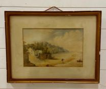 """A 19th century English school, """"New Brighton, Wirral"""", unsigned, watercolour, framed and glazed ("""