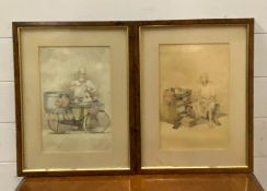 A pair of Malaysian school watercolours, framed and glazed, (30x20 cm each). (2)