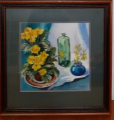 """John H. Taylor (act.XXI), """"Yellow primrose and jazmine"""", signed lower right, watercolour on wove"""