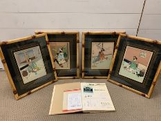 "After Hasegawa Sadanobu III (1881-1963), a set of four Japanese Ukyo-e prints comprising ""A Maiko"
