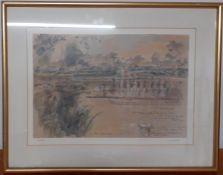 "John Stanton Ward, CBE RA (1917-2007) British, ""Eton College, 550th Anniversary Celebrations"","