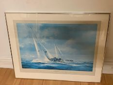"""A pair of limited edition prints signed by Robert Taylor and Edward Heath, """"The Admirals cup 1971"""""""