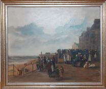 """A 20th century English school, """"Waiting"""", signed 'LR Bramwell' and dated '81 lower right and"""