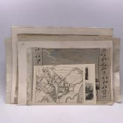 """A group of nine prints and engravings depicting Windsor and Eton, comprising """"View of the collage of"""
