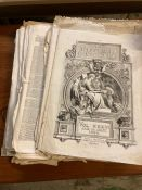 """""""The Illustrated London News"""", a very large lot of loose sheets covering a very wide range of topics"""